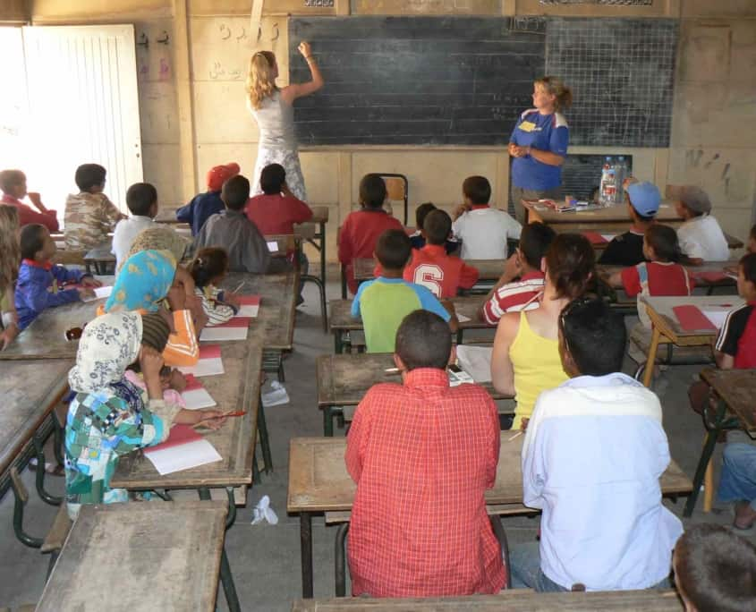 Undervisning i berberskole i Marokko
