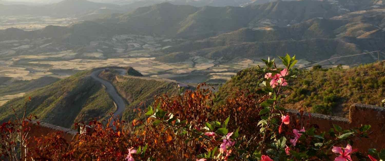 udsigt fra hotellet i Laliabela på rejser til Etiopien