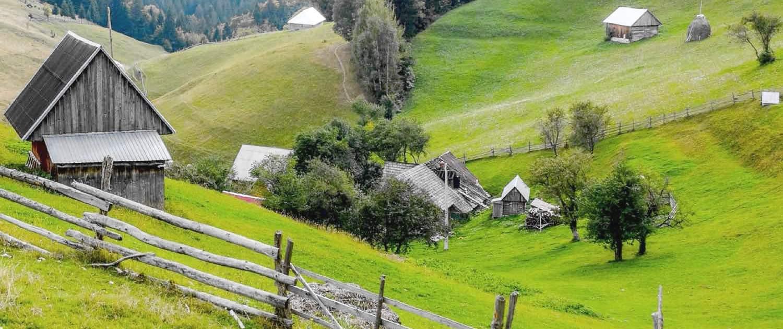 idyl i naturen i Rumænien