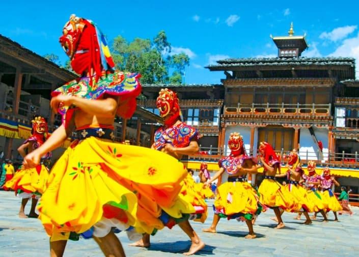 Bhutan nationaldragter og dans