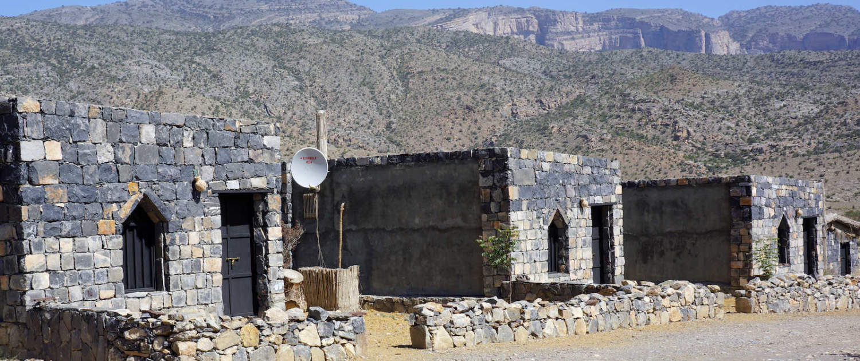 Mudderhus i Al Hamra i Oman