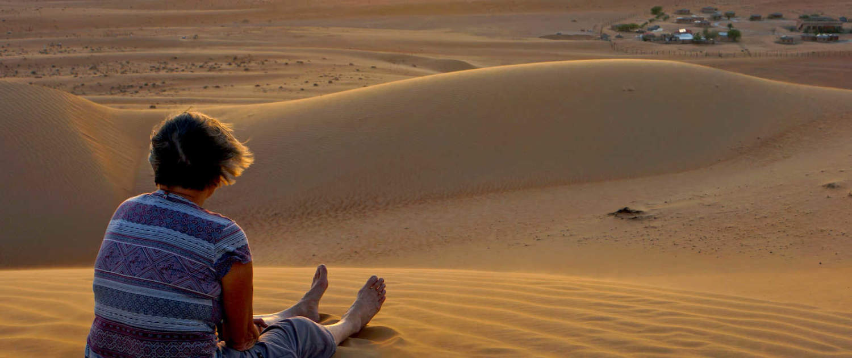 afslapningen i ørkenen i Oman