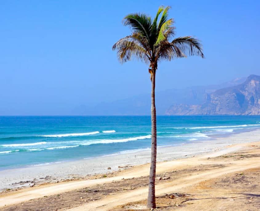 Maghsail strand i Oman