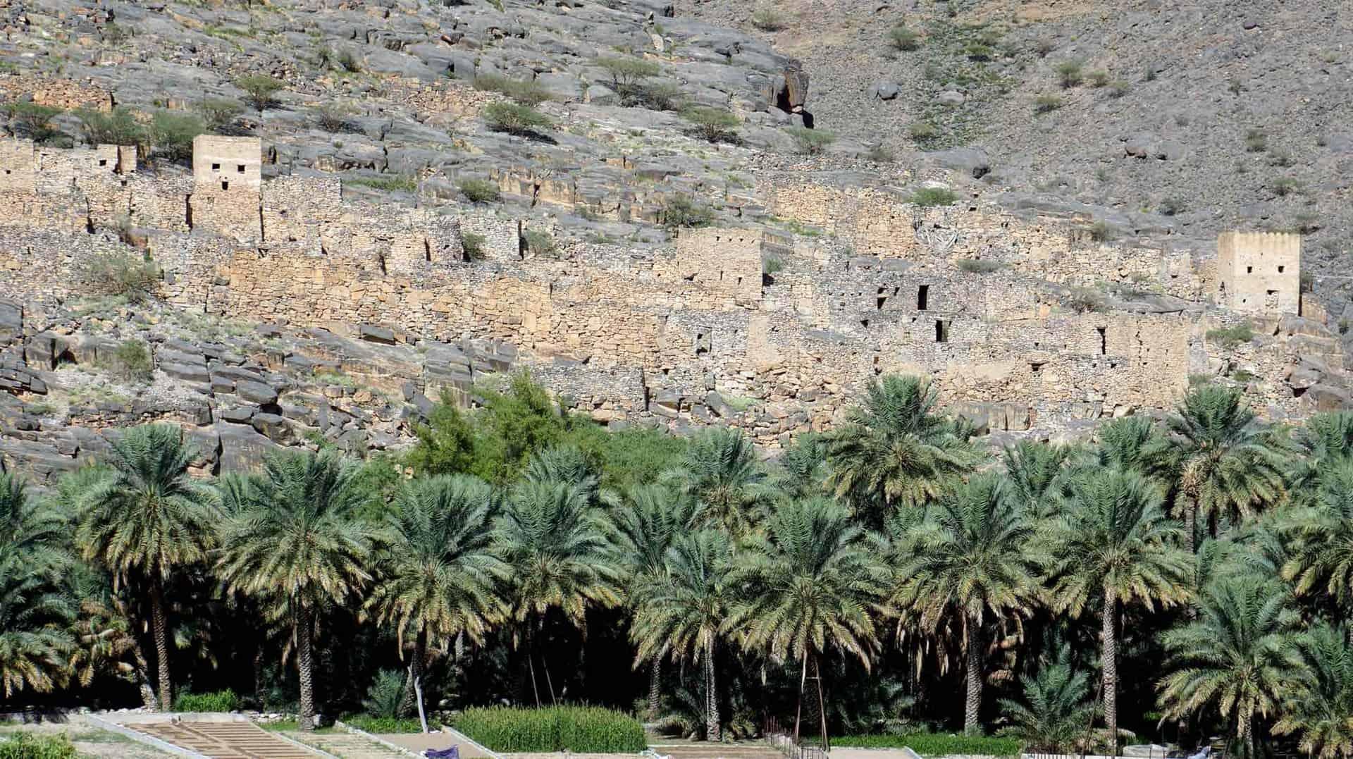 gamle landsbyer og wadi i oman