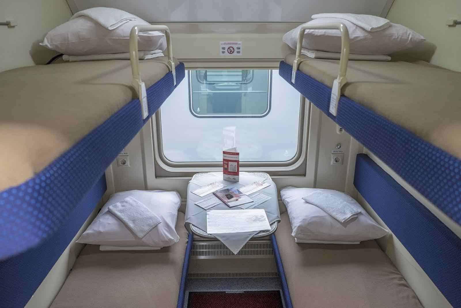 Rusland - Den Transsibiriske Jernbane - 4-sengs-kupe