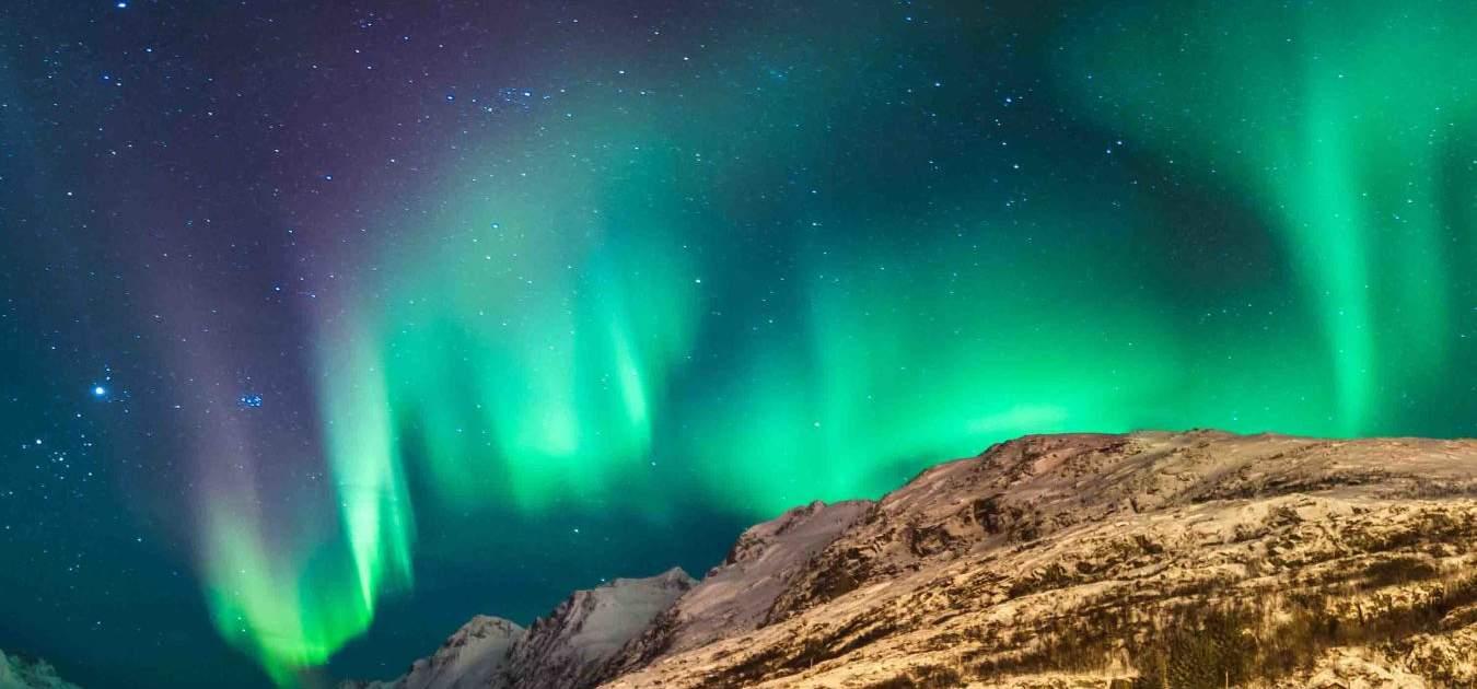aurelia borealis over Svalbard