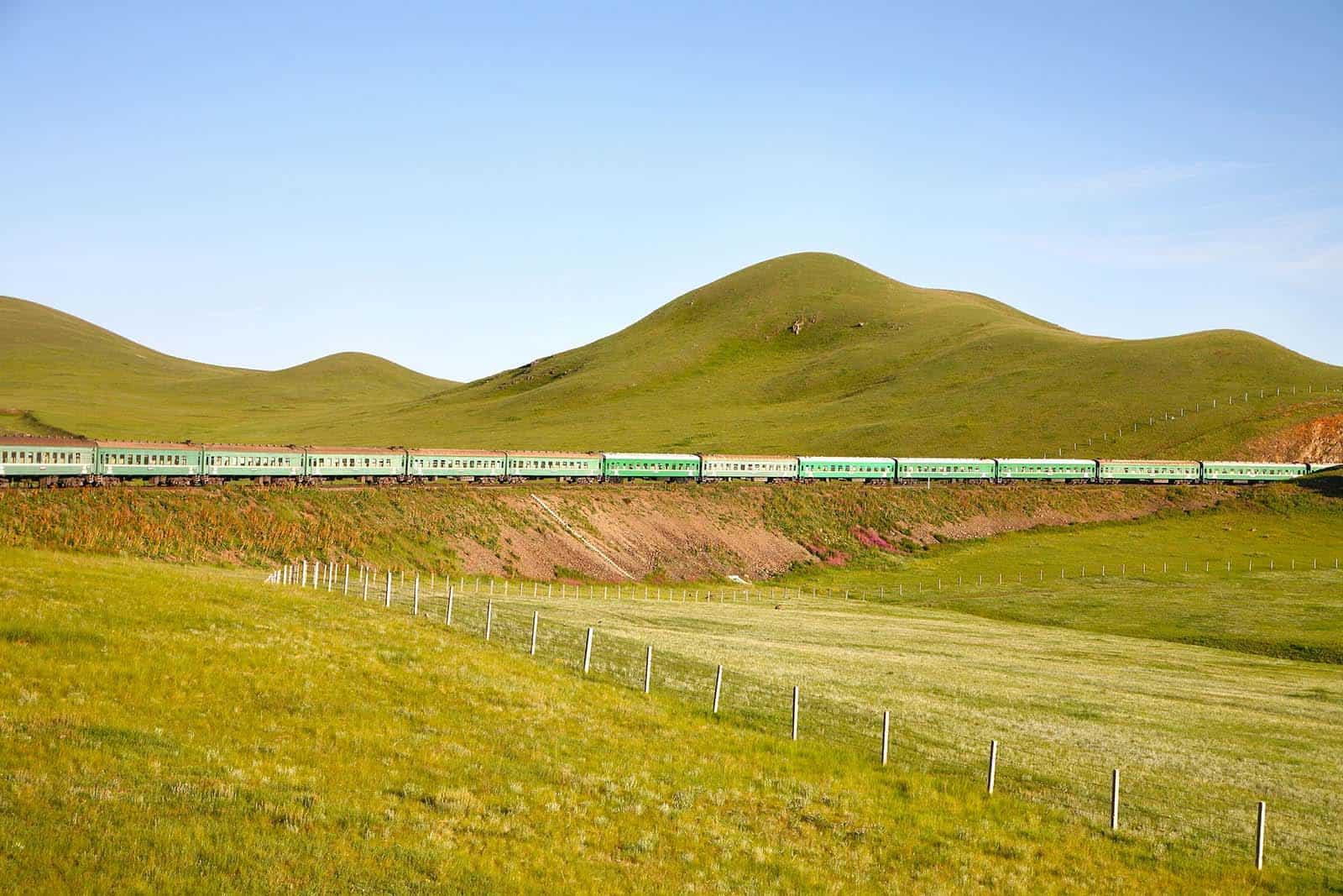 den transsibiriske jernbane til Mongoliet