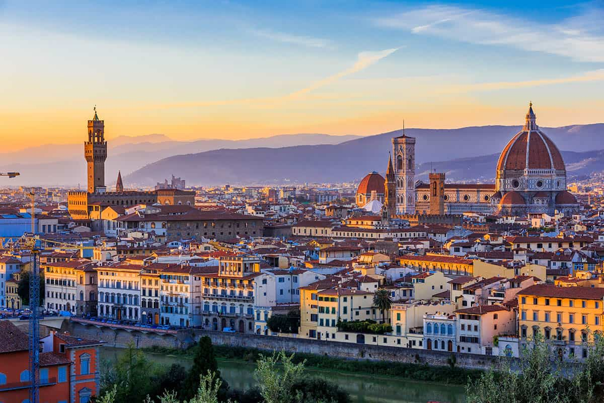 Udsigt over smukke Firenze
