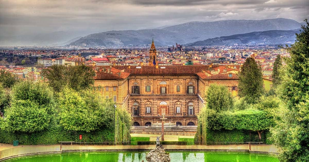 View of the Palazzo Pitti in Florence