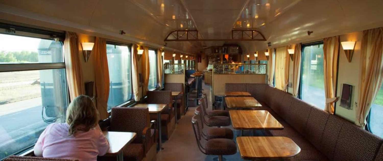 Den Transsibiriske Jernbane - Restaurant vogn