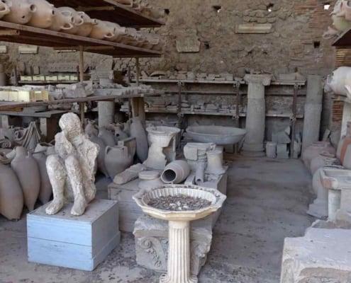 Afstøbinger af Pompejis beboere under Vesuvs udbrud.