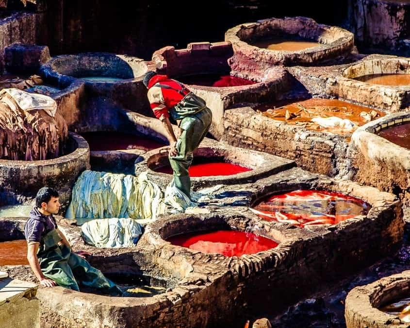 garverier i Fez på rejser til Marokko