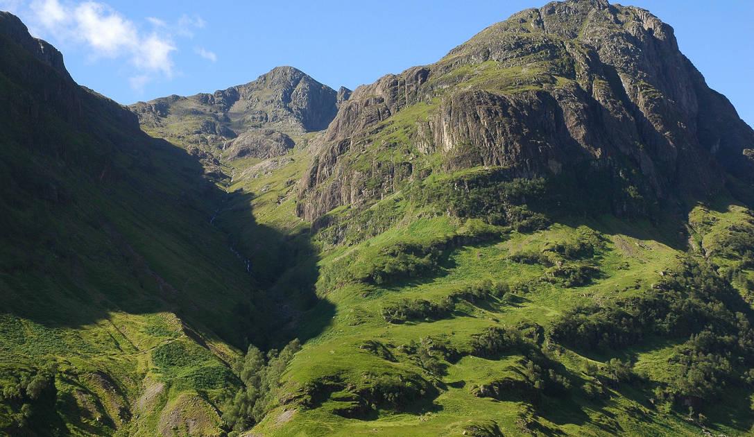 Glen Coe bjerget i Skotland