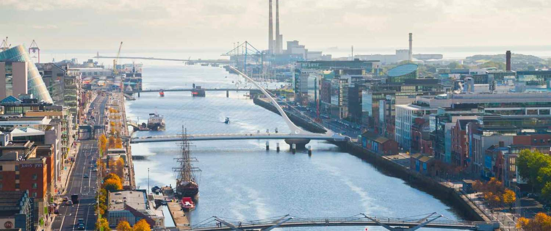 Byoversigt over Dublin havneområde