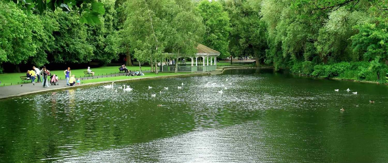 St. Stephens Green Park i Dublin
