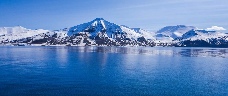 Det arktiske hav i Svalbard
