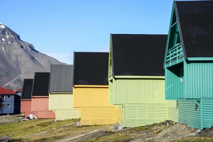 Hyggelige huse i Longyearbyen