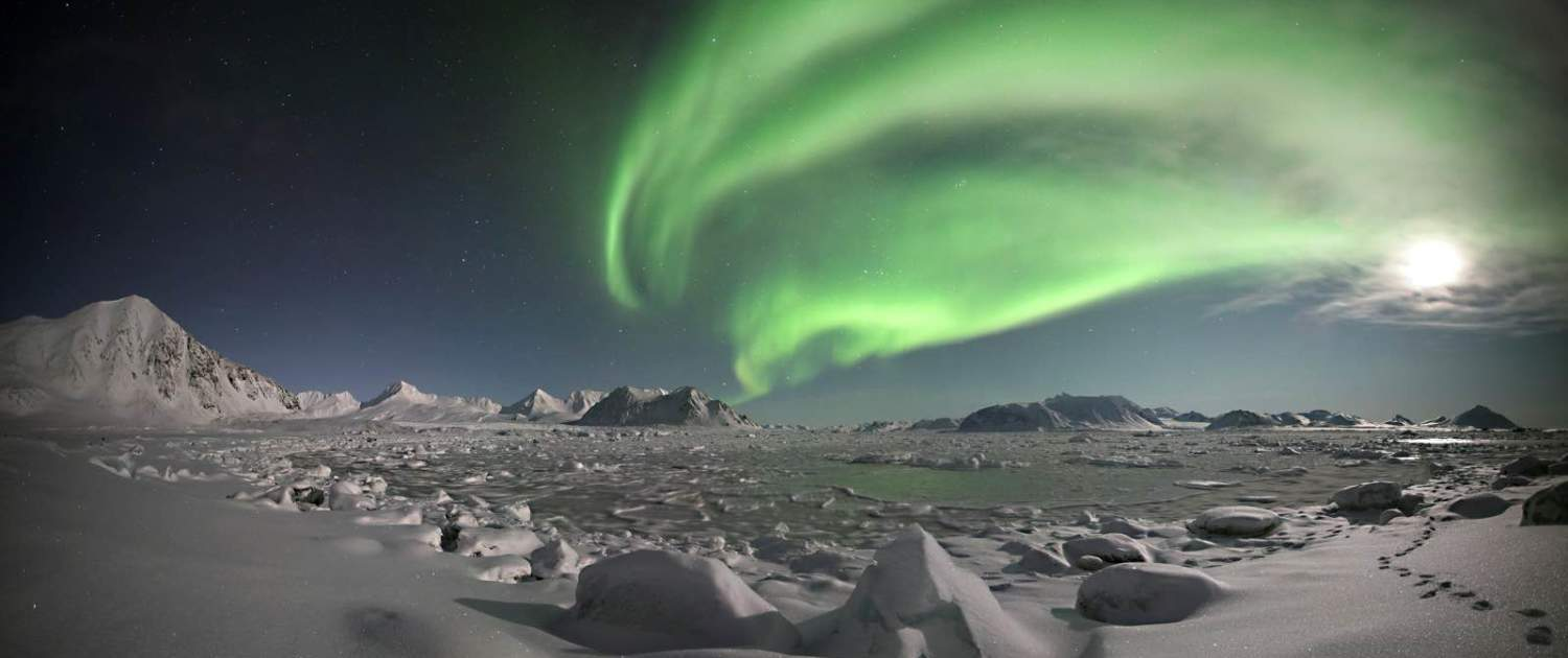Nordlys over Svalbard