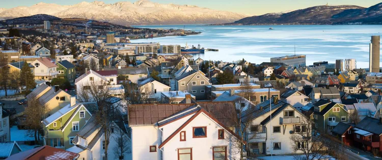 Huse og landskab i Tromsø
