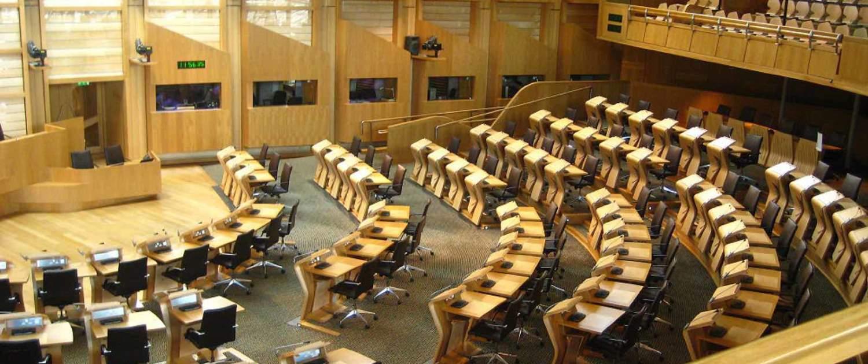 Det skotske parlament i Edinburgh