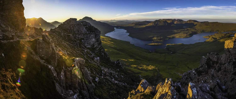 Landskabsbillede over det skotske højland