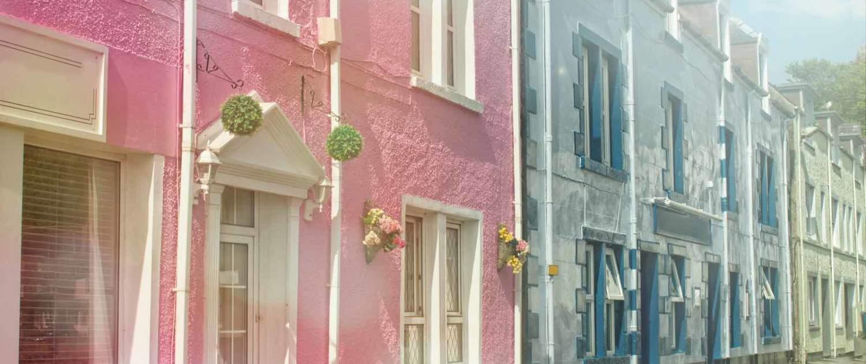 Farverige huse i Oban