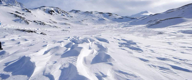 Snelandskab i Svalbard