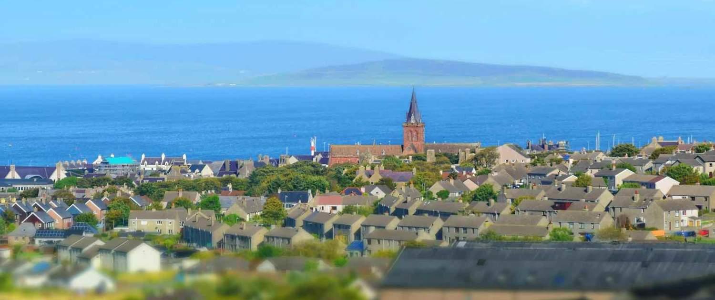 Orkney - udsigt over Kirkwall