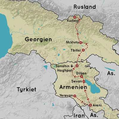 Rejser til Armenien og Georgien