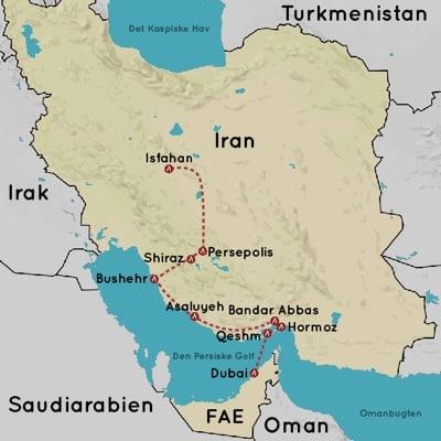Rejser til Iran og den Persiske Golf