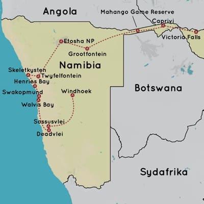 Rejser til Namibia & Zimbabwe