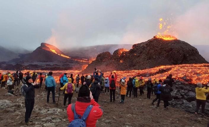 Rejse til Island med vulkanudbrud