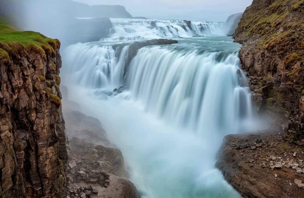 Gullfoss på rejser til Island