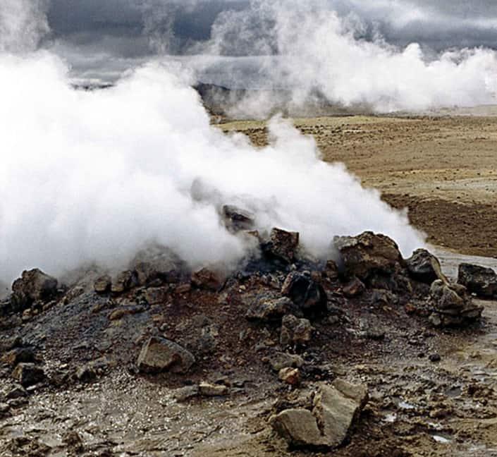 Vulkansk aktivitet på rejser til Island