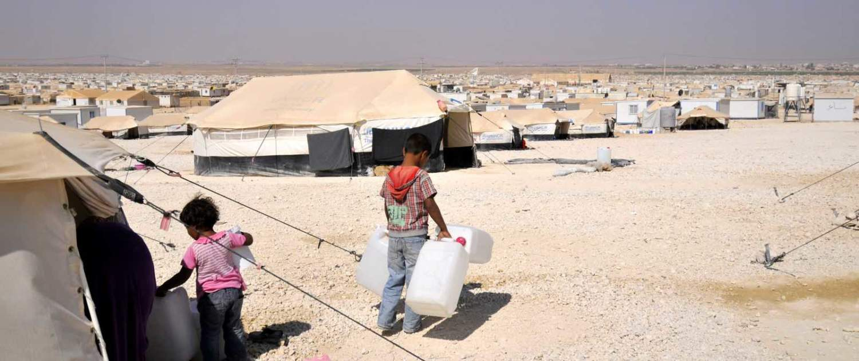 zaatari flygtningelejr i Jordan
