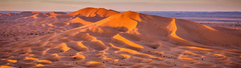 Ørkenbyen Merzougai Saharaørkenen
